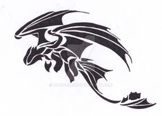 toothless tribal dragon - Famous Last Words Toothless Tattoo, Toothless Drawing, Toothless Cake, Toothless Costume, Tribal Dragon Tattoos, Tattoo Tribal, Tiger Tattoo, Samoan Tattoo, Polynesian Tattoos