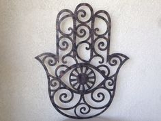 Faux Hamsa Metal Wall Art  Rustic Metal Art  by INSPIREMEtals, $160.00