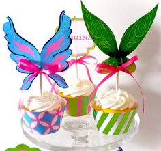 Pixie Tinkerbell Printable Party Cupcake Wrappers by OpalandMae