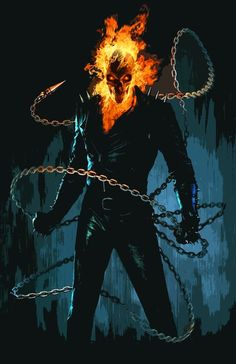 Ghost Rider in Collectibles Blue Ghost Rider, Ghost Rider 2007, Ghost Rider Movie, Ghost Rider Marvel, Ghost Rider Wallpaper, Skull Wallpaper, Marvel Wallpaper, Marvel Art, Marvel Heroes