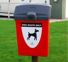Fido 25 dog waste bin is available in red or deep green and can be fitted to a wall or mounted on a post. Durable and easy to clean this bin is perfect for parks and public spaces where a receptacle for dog waste is required. Dogs, Wall, Design, Recycling Bins, Outer Space, Lanterns, Cleaning, Pet Dogs