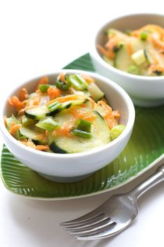 Spicy Cucumber Carrot Salad