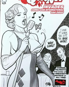 Harley Quinn, 1930s Lounge Singer sketch cover by Frank Cho