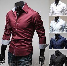 Free Shipping ! 2013 spring New Fashion Casual slim fit long-sleeved men's dress shirts Korean Leisure styles cotton shirt M-XXL $11.98