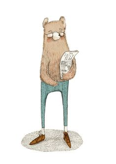 The daily bear illustration Winter Illustration, Children's Book Illustration, Graphic Design Illustration, Coraline, Character Inspiration, Character Design, Bear Art, Illustrations Posters, Cute Art