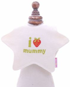 """We know the royal baby will be donning this adorable I """"strawberry"""" mummy bib from London brand beauty & the bib.  Get royally inspired for your next baby shower attendance and gift this bib worthy of a prince."""