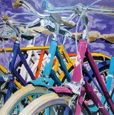 Color Bikes 40 Saatchi Art, Paint Colors, Original Paintings, Bike, Wood, Artist, Paint Colours, Bicycle, Woodwind Instrument