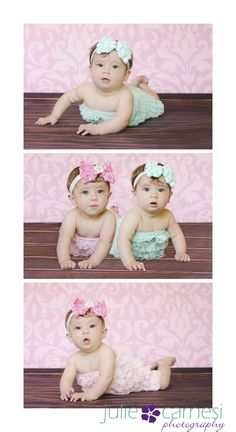 6 Month Photos,  Twin 6 Month Photos