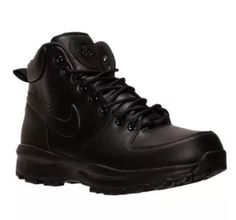 Nike Manoa Black Leather All Weather Boots Mens 454350-003 SIZE 7.5  5411b5b22
