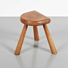 Charlotte Perriand; Oak Stool for Paul Martini, c1955.