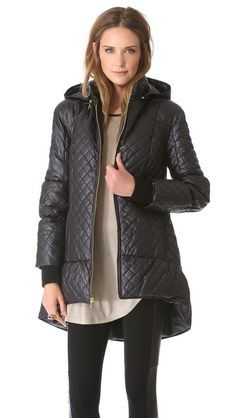 Tired of winter coats? Try on a Michelin Tire. alice + olivia puffer jacket,