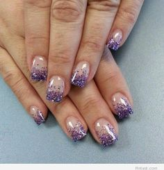 Purple details on nails