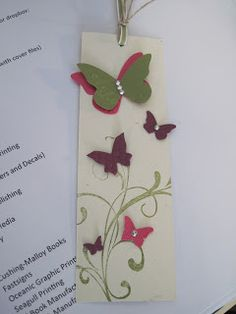 Butterflies fix everything! Bookmark. #handmade #stampinup    For the Love of Cards: Farewell Gifts