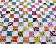 Ziegeln und Steinen Quilt Muster PDF-Datei Ein von redpepperquilts