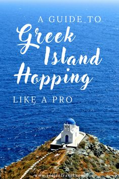 The ultimate guide to Greek Island Hopping in Greece. The best way to get to Piraeus from Athens, island group, itinerary and route options (there's so much more than just Santorini, Mykonos and the Cyclades!), how to book ferries independently (and save your budget) + practical tips once you reach your island destination. Plan a bucket list worthy trip to the Europe.   Up and Away Travel Blog #Greece #Europe
