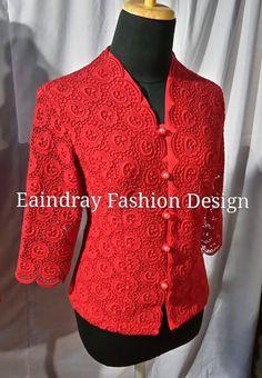 Myanmar Lace Blouse Fasion, Women's Fashion, Fashion Outfits, Fashion Design, Myanmar Traditional Dress, Traditional Dresses, Kebaya Brokat, African Blouses, Blouse And Skirt