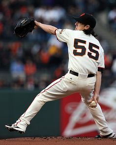 Game 35/162, 5/15/2012; Giants starterTim Lincecum hurls to the Colorado Rockies during the first inning.