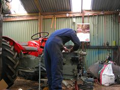 The Tractor Lad - Starting the - vintage tractor restoration specialists Vintage Tractors, Jumpsuits, Restoration, Overalls, Guys, Places, Rompers, Bodysuit Fashion, Sweatpants