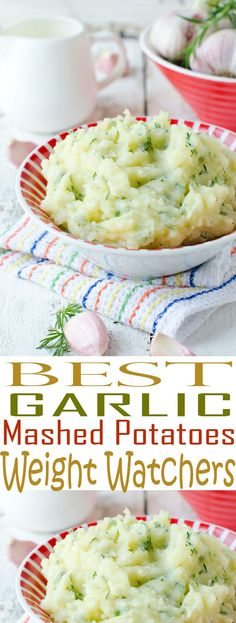 Weight Watchers Garlic Mashed Potatoes are an easy side dish recipe. You'll love these low fat mashed potatoes served alongside your main dish. Best Garlic Mashed Potatoes, Meat And Potatoes Recipes, Mashed Potato Recipes, Potato Dishes, Weight Watchers Mashed Potatoes Recipe, Broccoli Recipes, Ww Recipes, Side Dish Recipes, Cooking Recipes