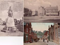 3 Wantage old postcards ( 2 used 1909 ) Mill street Town hall Statue | eBay