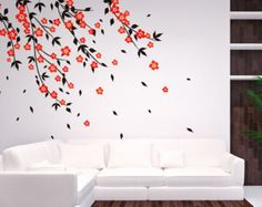 Vinyl Art Tree Branch with birds Wall Sticker by DecaIisland