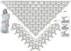Znalezione obrazy dla zapytania Crochet Pattern summer/spring shawl