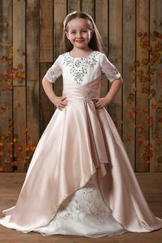 5cc4d96777 Gorgeous Princess Scoop Embroidery Applique Flower Girls Dress I love this  dress. And You