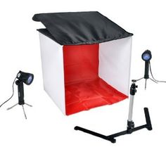 "Idirectmart Photo Tent Table Top Studio Light Photography Soft Box Kit - Size 19.5"" Cube.... Thinking inside the box, eh? ;)"