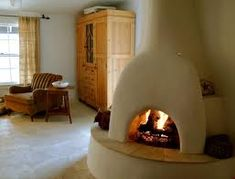1930 adobe home - bedroom kiva fireplace Adobe Fireplace, Mexican Home Decor, Adobe House, Hacienda Style, Natural Building, Dream Decor, Rustic Design, Home Bedroom, Bedrooms