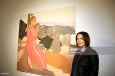 Artist Liz Markus attends the opening night of her Girlfriends Of The Rolling Stones exhibition at Gallery 151 on June 25, 2015, in New York City.