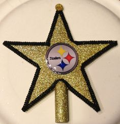 Pittsburgh Steelers Christmas Tree Topper 6 by Jewlsbasement, $12.99