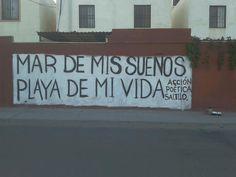 Mar de mis sueños  Playa de mi vida #Acción Poética Saltillo #calle