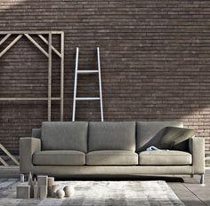 Divan design et tapis, objets de déco design. http://www.denisinterieur.be/ #meubles #design #salon #déco #maison #mobilier  #inspiration #home #moderne #contemporain #intérieur