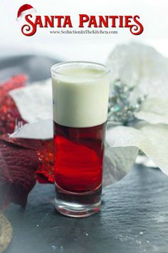 Santa Panties is fun Christmas cocktail shot that will be your signature drink of your holiday party. Cheers to the Holidays!