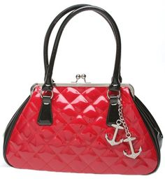 Lux de Ville Bon Voyage Shiny Red Kiss Lock - $84.00