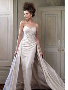 The Collection by Ian Stuart - Sweetheart Sheath Gown in Silk Dupioni