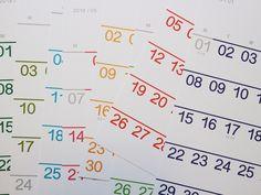 2018 Calendar : 웬아이워즈영 | wheniwasyoung - 디자인문구 브랜드 홈페이지 Cosmetic Packaging, Calendar Design, Data Visualization, Typo, Layout Design, Editorial, Stationery, Drawing, Wallpaper