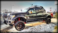 """FOR SALE: Lifted 2014 #FORD  #F350 Lariat """"Black Widow"""" edition"""