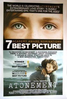 Golden Awards, Golden Globe Award, James Mcavoy, Atonement Movie, Romola Garai, Ian Mcewan, Dangerous Liaisons, Best Cinematography, War Film