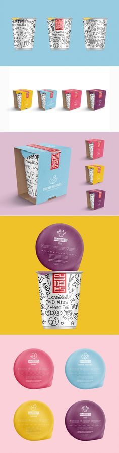 Check Out This Fun New Take on The Classic Cup Noodles — The Dieline | Packaging & Branding Design & Innovation News