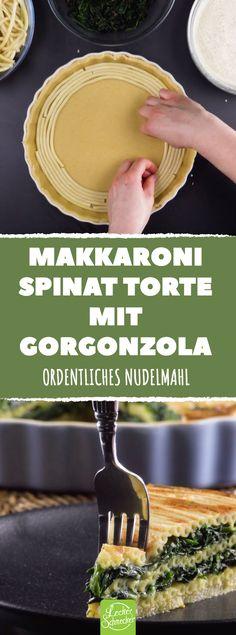 Ein Gericht wie ein Gedicht, weil es zu perfekt mit den Zutaten schmeckt! #leckerschmecker #rezept #essen #genießen #genuss #kochen #backen #herzhaft #käse #spinat #gorgonzola #pasta #nudeln #makkaroni #quiche #würzig #aromatisch #lecker #intensiv #blattspinat #ordnung #ordentlich #tarte #mittagessen #gäste #abendessen