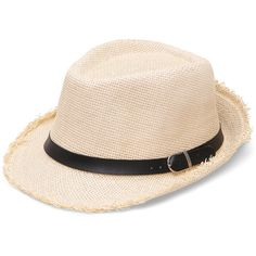 Romwe Wide-Brim Banded Straw Hat ($8.90) ❤ liked on Polyvore featuring accessories, hats, beige, straw hat, band hats, wide brim straw hat and wide brim hat