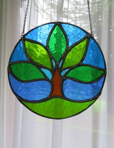 419eff005acd24 Summer Tree Seasonal Sunny Stained Glass by pewtermoonsilver Making Stained  Glass