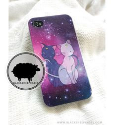 Sailor Moon Luna & Artemis Galaxy Kitty Cat iPhone Case by blacksheepcases.com // $15