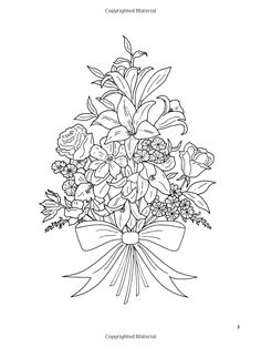 Floral Bouquets Coloring Book (Dover Nature Coloring Book): Charlene Tarbox: 9780486286549: AmazonSmile: Books