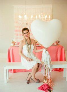 Heart Balloon With Tassels
