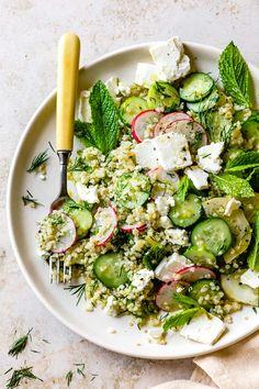 Quinoa + vegetables + herbs + feta = the perfect lunch salad! It's easy math. READ MORE… Quinoa + vegetables + herbs + feta = the perfect lunch salad! It's easy math. Bojon Gourmet, Gourmet Salad, Salad Recipes, Healthy Recipes, Healthy Gourmet, Juicer Recipes, Gourmet Foods, Fast Recipes, Greek Recipes