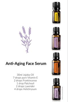 face serum Did you know that your skin is the largest organ of your body and can absorb much of what you put on it? Swap out chemical-laden skincare products with easy DIY products that inc Essential Oils For Face, Essential Oil Uses, Young Living Essential Oils, Cypress Essential Oil, Lavender Doterra, Aromatherapy Oils, Doterra Essential Oils, Helichrysum Essential Oil, Essential Oil Blends