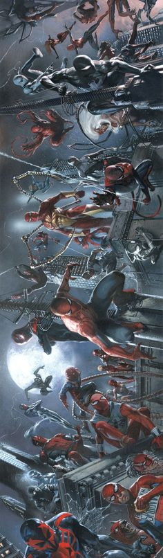 #Spiderman #Fan #Art. ( Spider-Verse: Those who wander are not lost) By: Gabriele Dell'Otto.    (THE * 5 * STÅR * ÅWARD * OF: * AW YEAH, IT'S MAJOR ÅWESOMENESS!!!™)[THANK Ü 4 PINNING<·><]<©>ÅÅÅ+(OB4E)