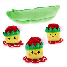3 Peas-in-a-Pod Plush - Toy Story - Holiday - Mini Bean Bag - 8''